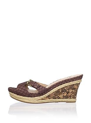 Lisa by Donald J Pliner Women's Wonnda Slide Wedge Sandal (Bark/Rock)