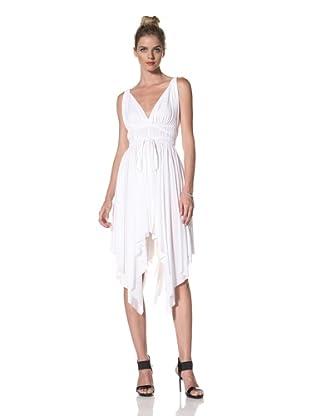 Norma Kamali Women's Goddess Dress with Shirred Waist (White)