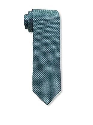 Bruno Piattelli Men's Microneat Silk Tie, Green