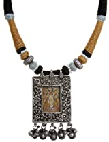 Exotic India Choker with Shrinathaji Pendant - Sterling Silver