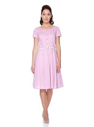 UNQ Hemdblusenkleid (Violett)