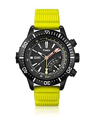 TIMEX Reloj de cuarzo Man Intelligent Depth Amarillo 46 mm