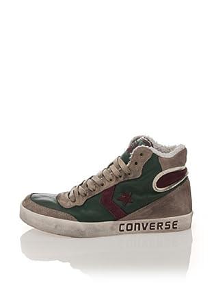 Converse Zapatillas Fast Break Mid Leather Ltd (Verde / Violeta)
