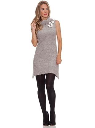 Divina Providencia Gepunktetes Kleid (Grau)