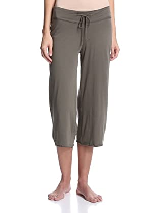 SKIN Women's Double Jersey Crop Pant (Loden)
