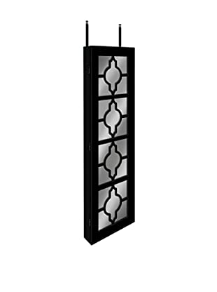 Dalton Home Collection Over-the-Door/Wall Hanging Jewelry Armoire (Black)