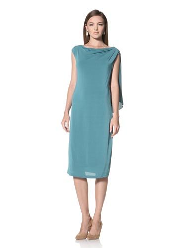 Anne Klein Collection Women's Draped Dress (Lagoon)