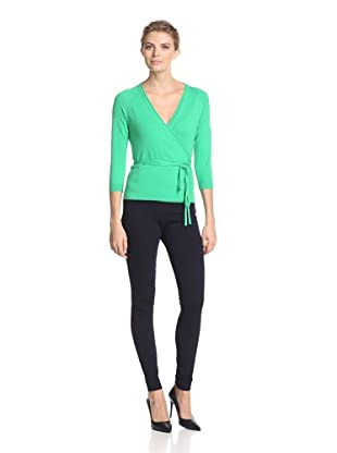 Malo Women's Wrap Sweater (Green)