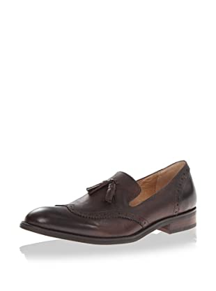 JD Fisk Men's Alfie Slip-On Loafer (Dark Brown)