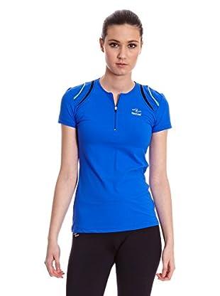 Naffta Camiseta Running (Azul / Negro)