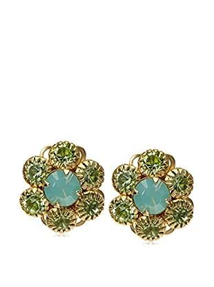 Liz Palacios Blue/Green Fly Eye Post Earrings