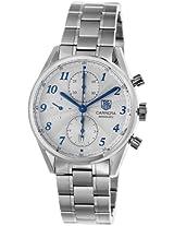 TAG Heuer Men's CAS2111.BA0730 Carrera Silver Dial Chronograph Steel Watch