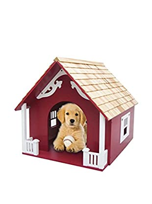 Home Bazaar Heart Dog House, Red