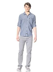 Katin Men's Garage Button Front Shirt (Blue Chambray)