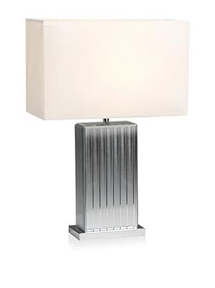 Mercana Ciara Table Lamp, Silver/Natural