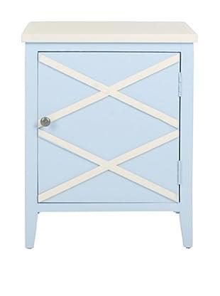 Safavieh Bernardo Side Cabinet, Light Blue/White