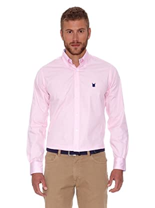 Polo Club Camisa Hombre Fitted Escudo (Rosa)