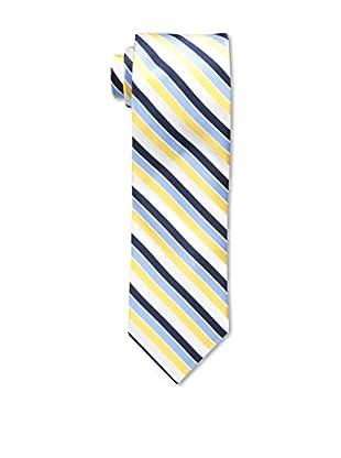 Bruno Piattelli Men's Stripe Silk Tie, Gold