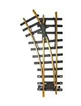 """Bachmann Industries Large """"G"""" Scale Universal Brass Track with 30 Degree 4' Diameter Turnout, Left"""