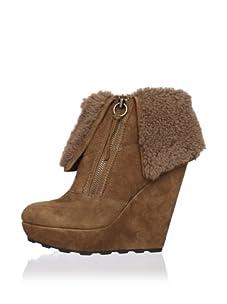 Ash Women's Folk Platform Ankle Boot (Chestnut)