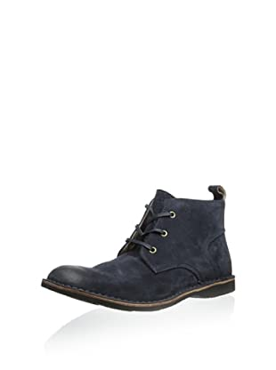 Andrew Marc Men's Dorchester Chukka (Med Blue)