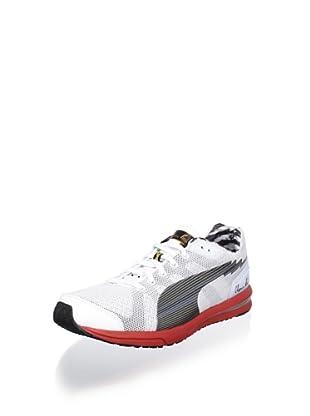Puma Men's Bolt Evospeed Running Shoe (White/Black/Silver)