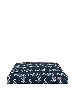 Majestic Pet Rectangle Pet Bed (Navy Blue Seahorse)
