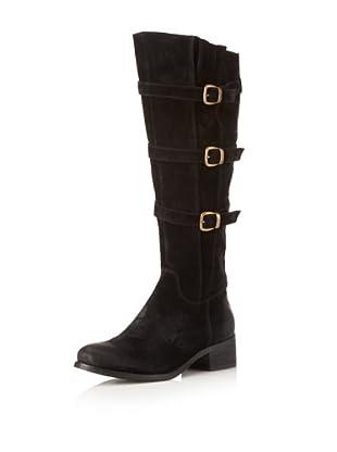 Chocolat Blu Women's Nicole Three Buckle Long Boot (Black)