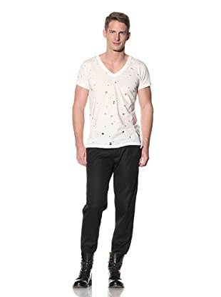 Ann Demeulemeester Men's Perforated V-Neck Tee
