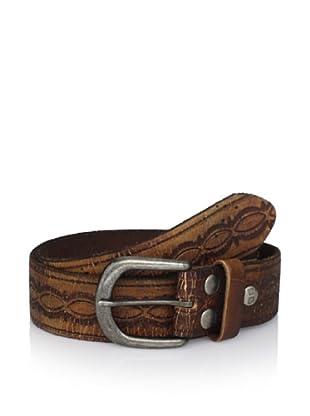 Bed Stu Unisex Ariel Embossed Leather Belt (Tan)