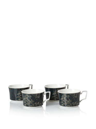 Noritake Set of 4 Everyday Elegance Verdena Cups, Platinum, 7.5-Oz.
