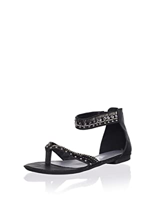 XTI Kid's Studded Sandal with Ankle Strap (Black)