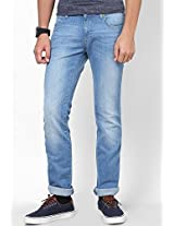 Light Blue Low Rise Slim Fit Jeans Wrangler