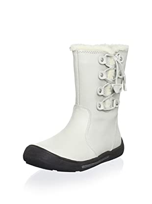 Billowy Kid's Laced Boot (White)