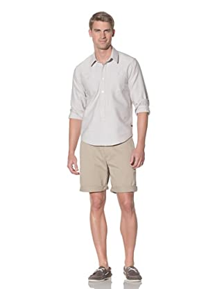 Rhythm Men's Gringo Woven Long Sleeve Shirt (Beige)
