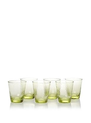 Impulse! Set of 6 Roma Rocks Glasses (Green)
