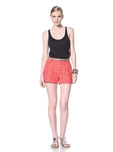 Timo Weiland Women's Louisa Shorts (Orange/Fuchsia Jacquard)
