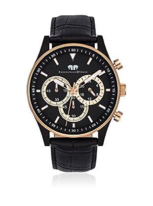 Rhodenwald & Söhne Uhr mit japanischem Quarzuhrwerk 10010132 schwarz 43  mm