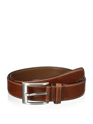 J.Campbell Los Angeles Men's Double-Stitched Belt (Cognac)