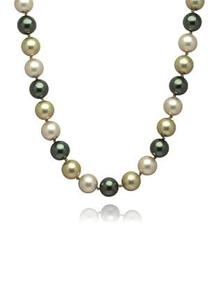Perldor - 60650059 Collar de mujer Gris de ley con perla natural Azul/Blanco 60 cm