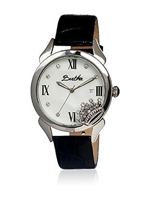 Bertha Uhr mit Japanischem Quarzuhrwerk Queen schwarz 41 mm