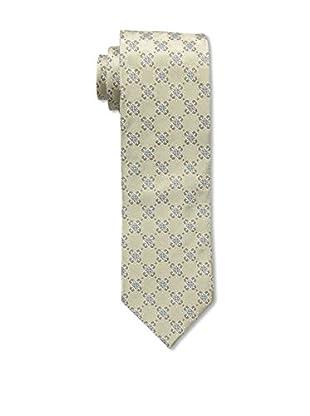 Bruno Piattelli Men's Medallion Silk Tie, Ecru