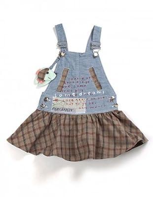 My Doll Jeanskleid mit Latz (Denim/Khaki)