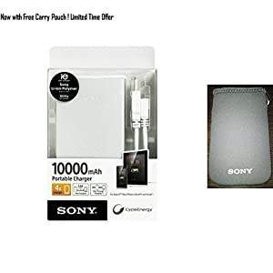 Sony CP-F10L 10000 mah Portable Power Bank Charger (Silver)