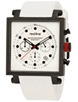 red line Men's RL-50036-BB-02-WHT Compressor 2 Chronograph White Dial White Silicone Watch