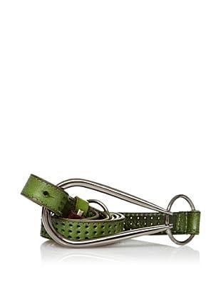 Sándalo Cinturón Perforaciones (Verde)