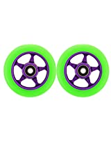 Metal Core 100mm CNC Scooter 2 Wheels with Abec 11 Bearings Razor HEAVY DUTY! MADE IN USA!