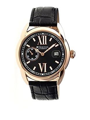 Heritor Automatic Uhr Burnell Herhr1807 schwarz 47  mm