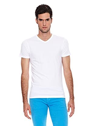 Six Valves Camiseta Manga Corta Flúor (Blanco)