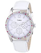 Timex Analog Silver Dial Women's Watch - T2P3856S